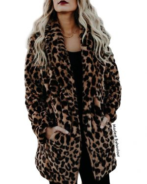 Cheetah Fur Open Coat