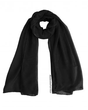Black Cotton Hijab