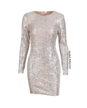 Sequined Silver Party Top