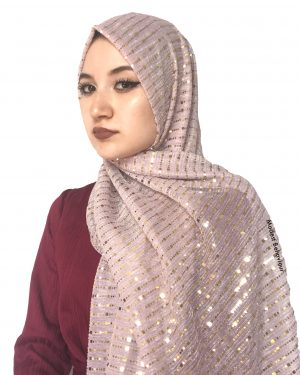 Blush Pink Shimmer Pleated Hijab