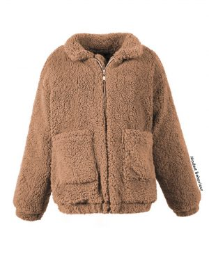 Teddy Bear Fur Coat with Pockets
