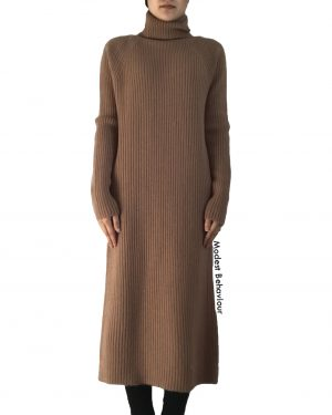 Long Sweater Dress High Neck