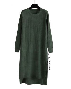 Pullover Long Sweater Dress Top
