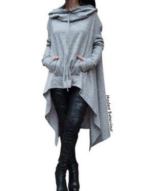 V Cut Hooded Sweatshirt
