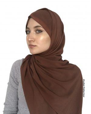 Chestnut Brown Chiffon Hijab