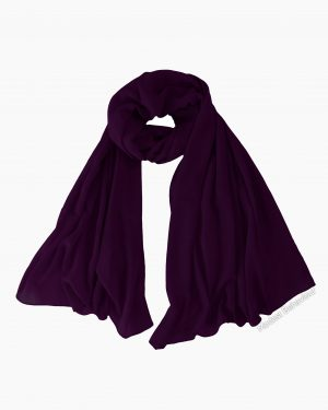 Plum Chiffon Hijab
