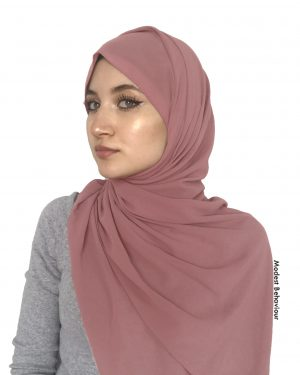 Dusty Rose Chiffon Hijab