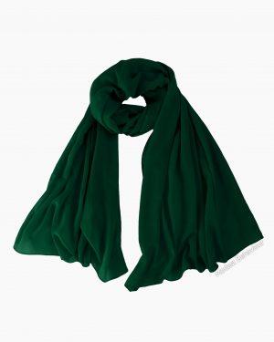 Forest Green Chiffon Hijab