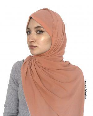Peach Chiffon Hijab