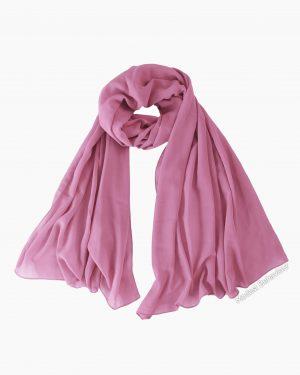 Rosie Pink Chiffon Hijab