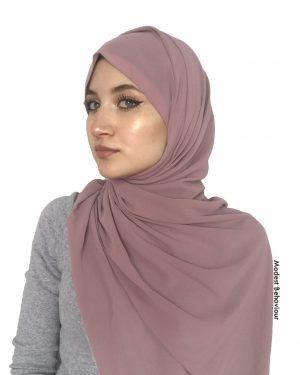 Dusty Rose Chiffon Hijab