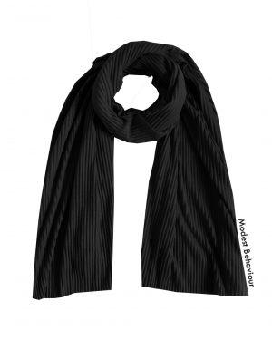 Black Crinkled Jersey Hijab