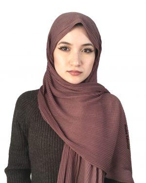 Mauve Crinkled Jersey Hijab
