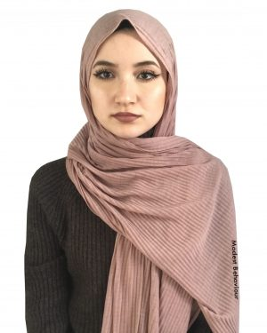 Pink Tea Crinkled Jersey Hijab