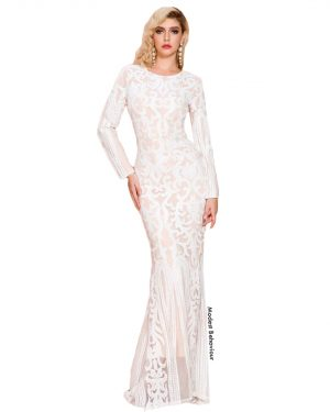 Angellic Lace Pattern Evening Gown