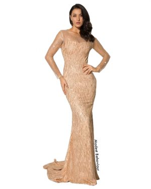 Glittery Mermaid Sweetheart Evening Gown