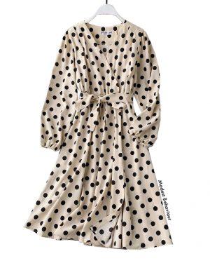 Vintage Polka Dot Dress Top
