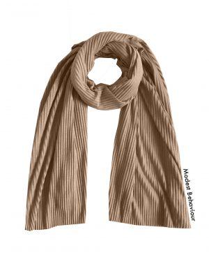 Caramel Brown Crinkled Jersey Hijab