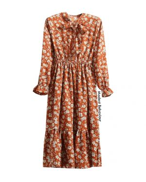 Vintage Floral Pattern Dress Top