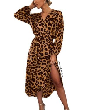 Leopard Long Dress Top