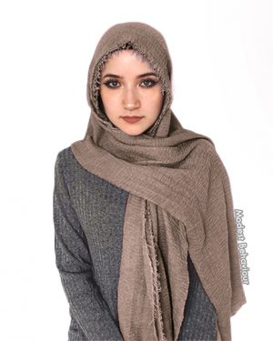 Hazelnut Brown Crinkle Hijab