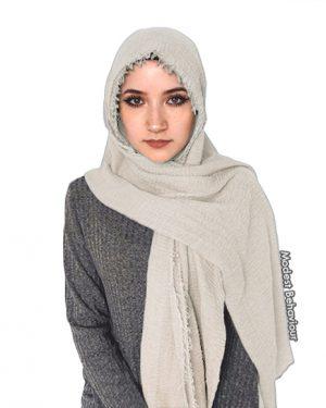 Ivory Crinkle Hijab