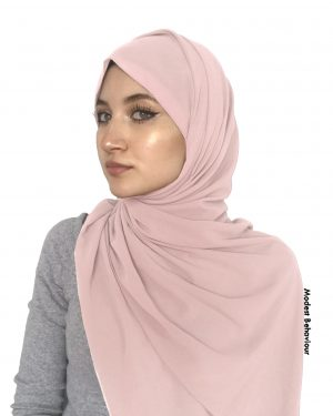 Blush Chiffon Hijab