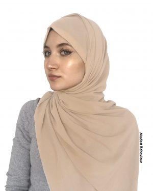 Desert Brown Chiffon Hijab