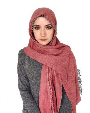 Rosie Red Crinkle Hijab