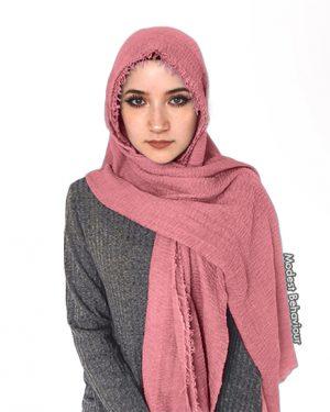 Rosie Pink Crinkle Hijab