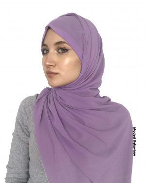 Dark Lavender Chiffon Hijab
