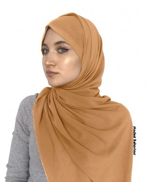 Honey Brown Chiffon Hijab