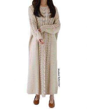 Middle Eastern Long Sweater Dress