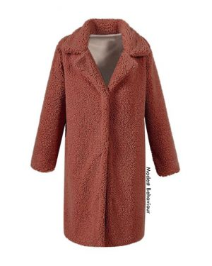 Long Teddy Bear Fur Coat