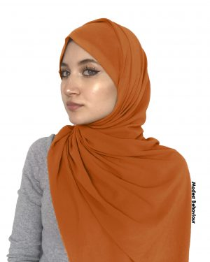 Teddy Brown Chiffon Hijab