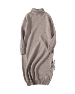 Turtleneck Long Sweater Dress