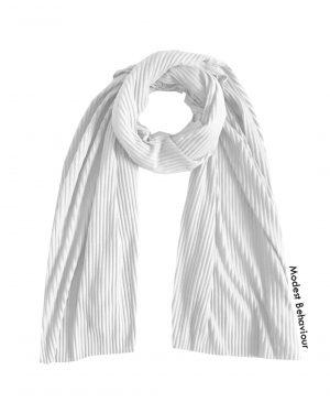 White Crinkled Jersey Hijab