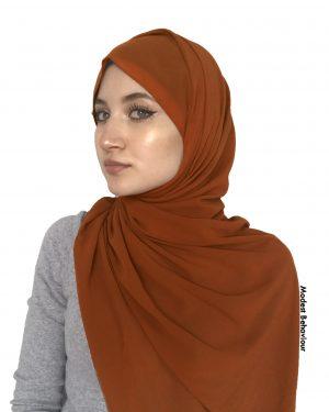 Auburn Brown Chiffon Hijab