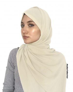 Cream Chiffon Hijab
