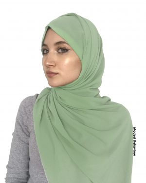 Peppermint Green Chiffon Hijab
