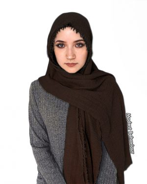 Chocolate Brown Crinkle Hijab