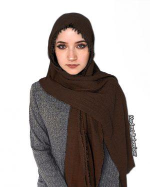 Chocolate Brown Crinkled Hijab