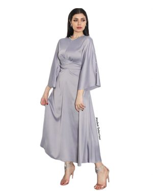 Diamond Satin Wrap Dress