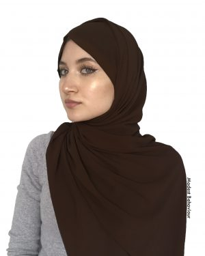 Chocolate Brown Chiffon Hijab