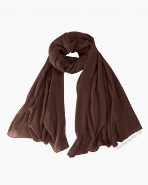 Chocolate Brown Chiffon Hijab