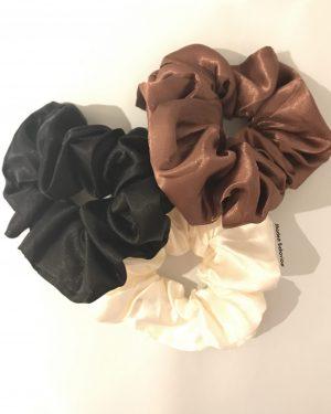 Silky Scrunchies (3pcs)