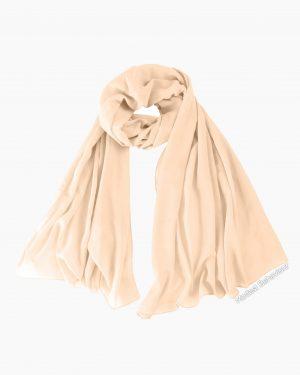 Beige Chiffon Hijab