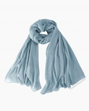 Denim Blue Chiffon Hijab