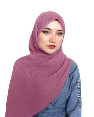 Dusty Rose Crinkled Chiffon Hijab