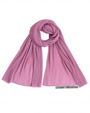 Dusty Rose Crinkled Chiffon Hijab